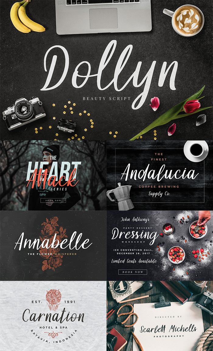 Dollyn Script Font poster