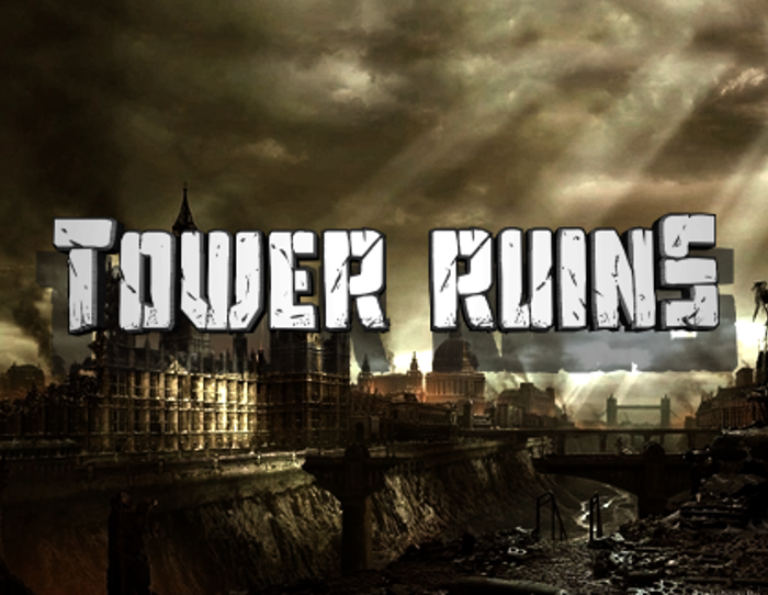 Tower Ruins Font poster