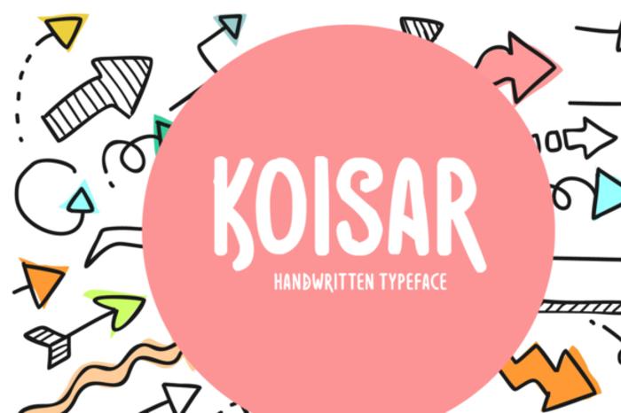 Koisar Font poster