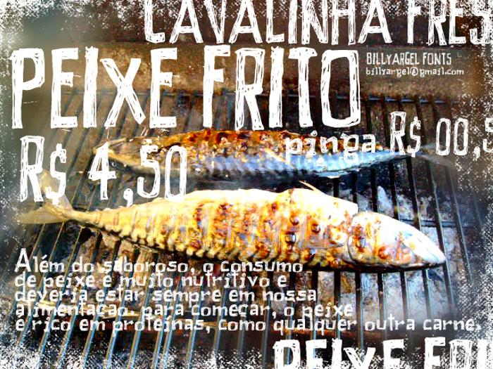 PEIXE FRITO Font poster