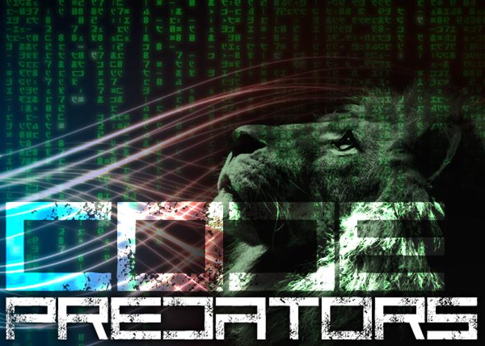 Code Predators Font poster