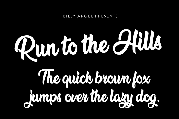 Run to the Hills Font poster