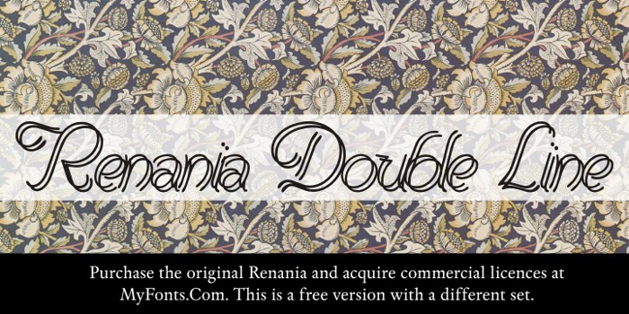 Renania Double Line Font poster