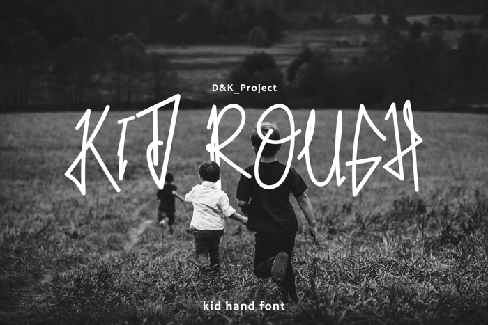 Kid Rough Font poster