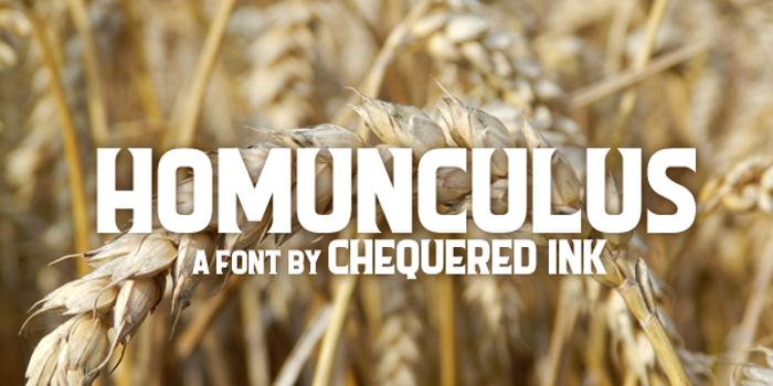 Homunculus Font poster