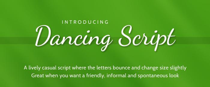 Dancing Script Font poster