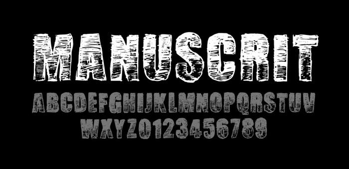 Manuscrit Regular Font poster