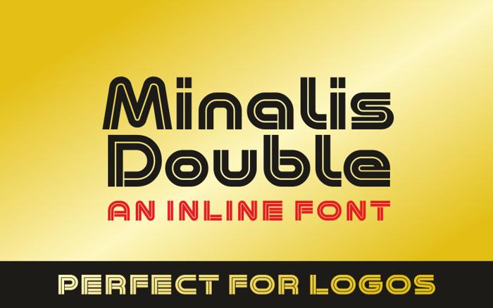 Minalis Double Font poster