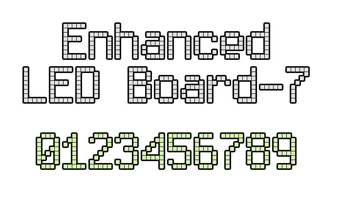 Enhanced LED Board-7 Font poster