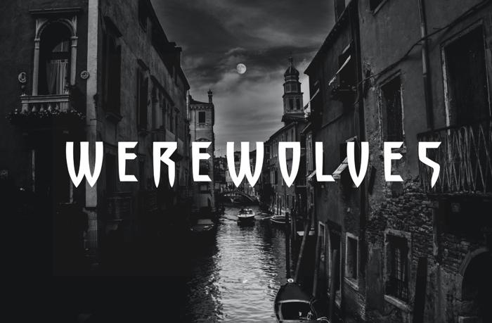 werewolves Font poster