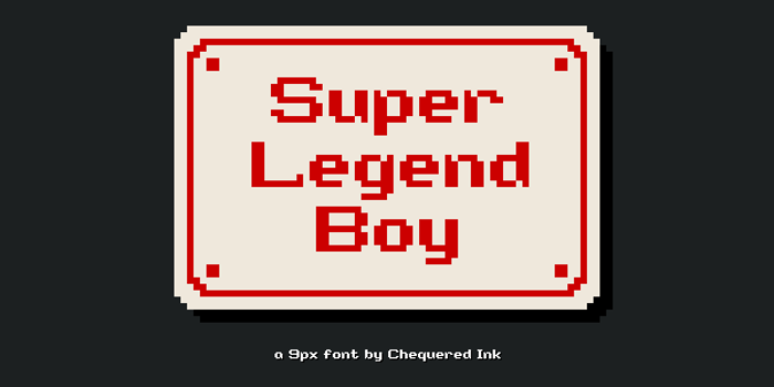 Super Legend Boy Font poster