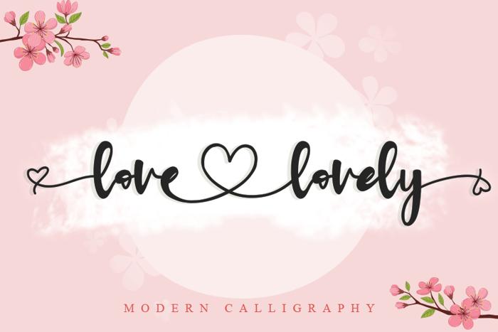 love lovely Font poster