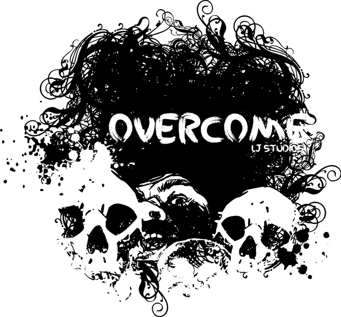 Overcome Font poster
