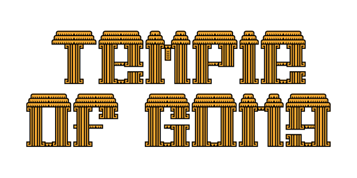 Temple of Gong Font poster