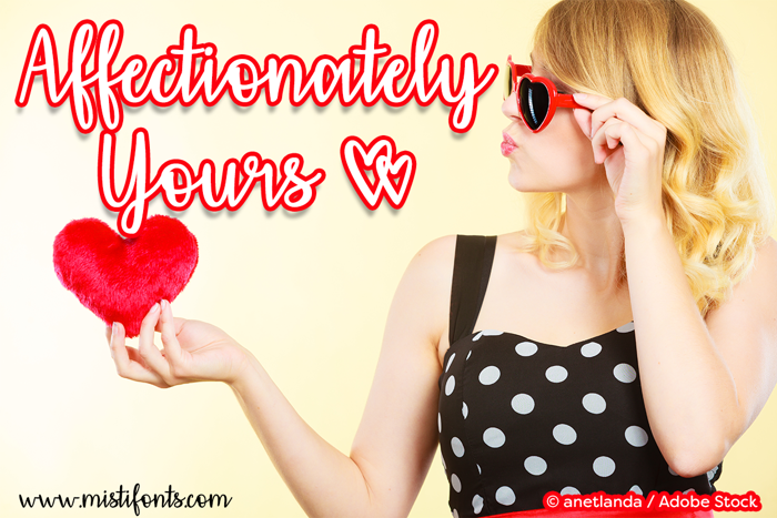Affectionately Yours Font poster