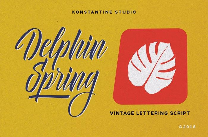 Delphin Spring Font poster