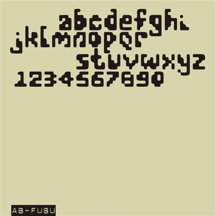 AB FuBu Font poster