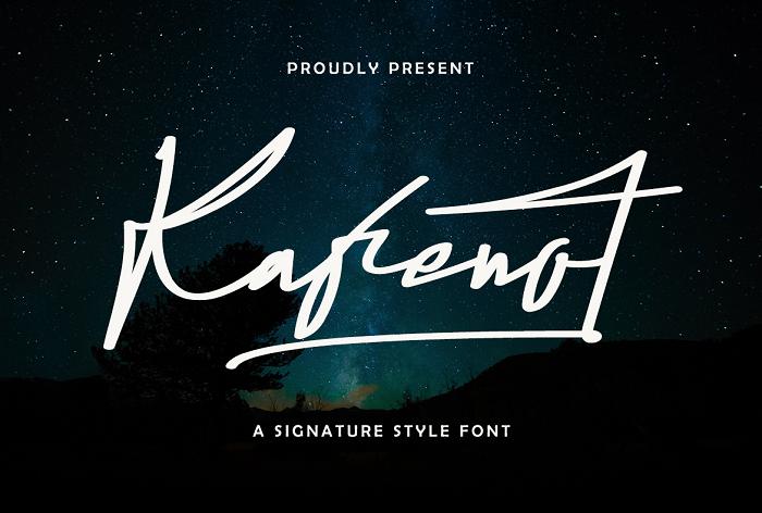 Kafenot Font poster
