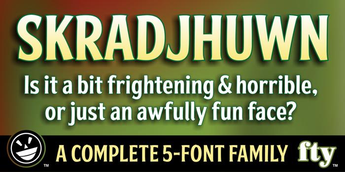 FTY SKRADJHUWN NCV Font poster