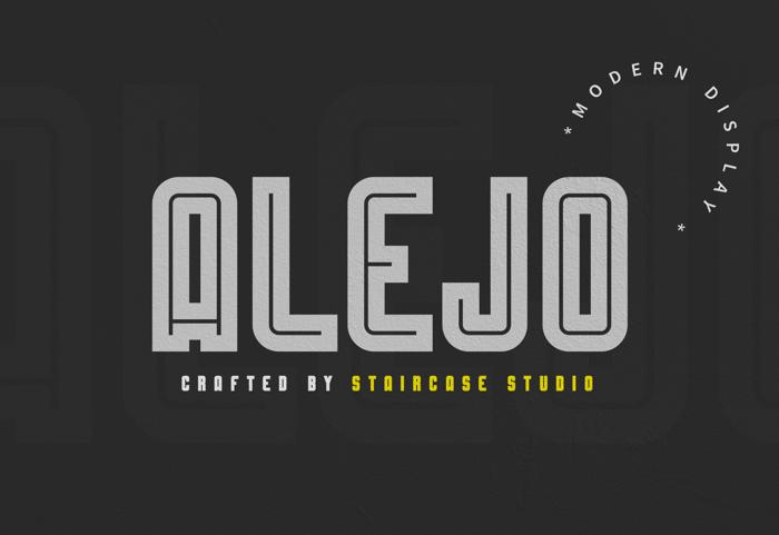 Alejo Line Font poster