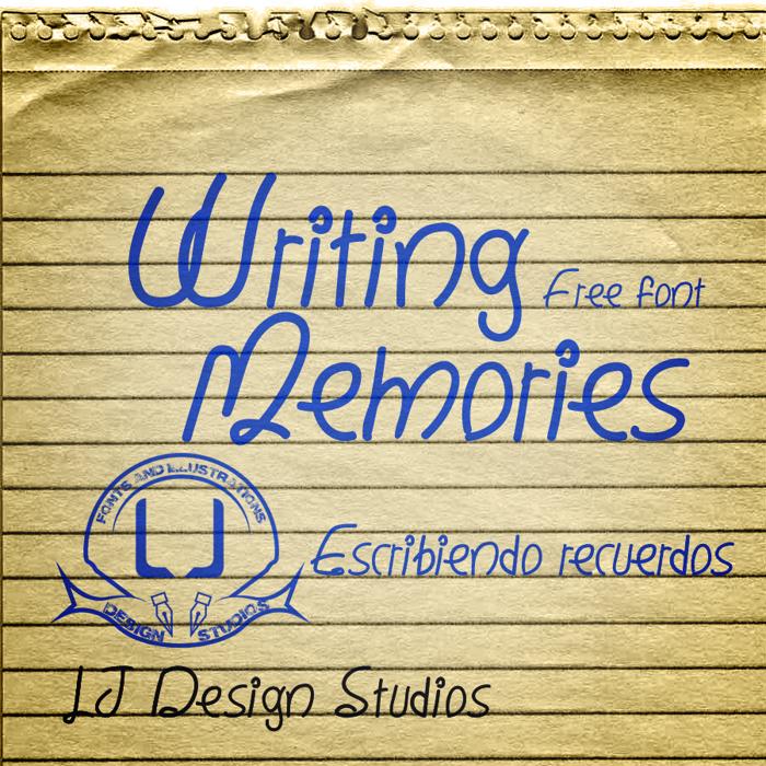 Writing Memories Font poster