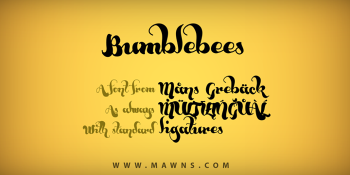 Bumblebees Demo Font poster