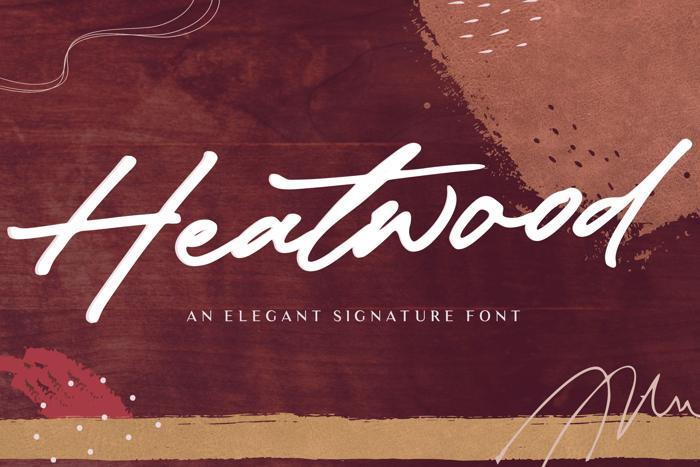 Heatwood Font poster
