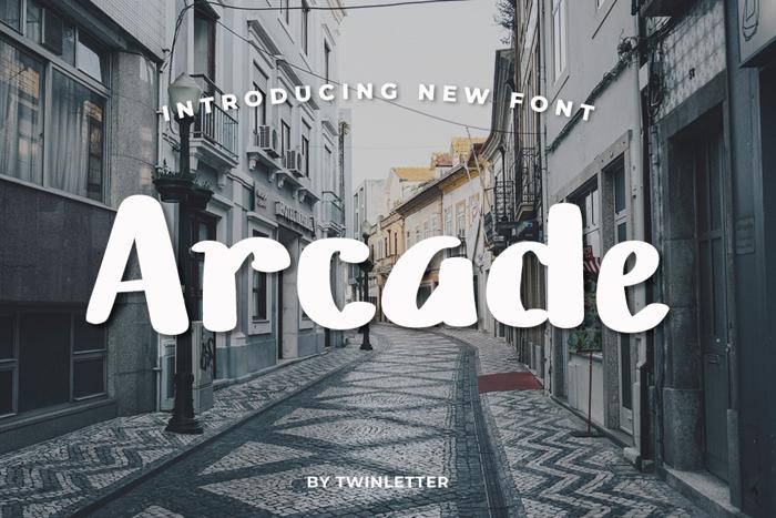 Arcade Font poster