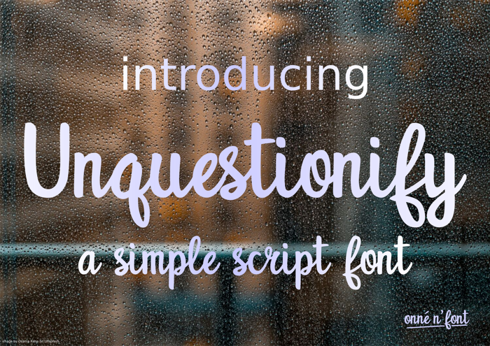 Unquestionify Font poster