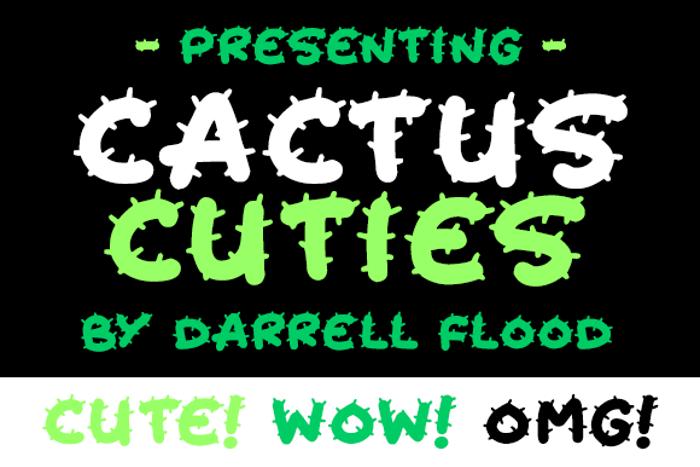 Cactus Cuties Font poster