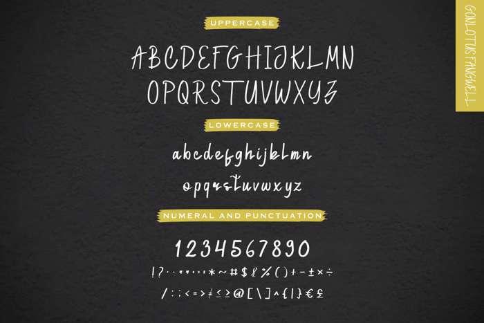 Gonlotus Fangwell Script Font poster