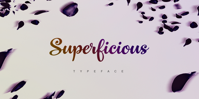 Superficious Font poster