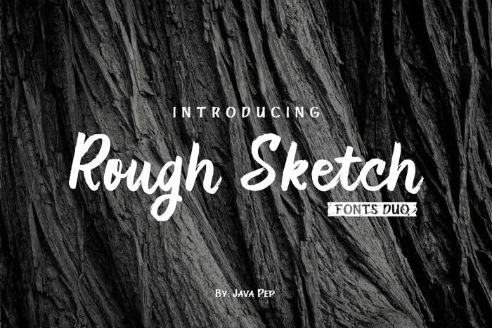 Rough Duo Font poster