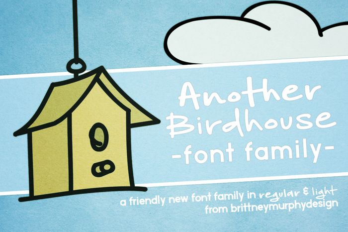 Another Birdhouse Font poster