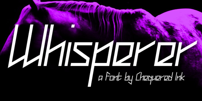 Whisperer Font poster