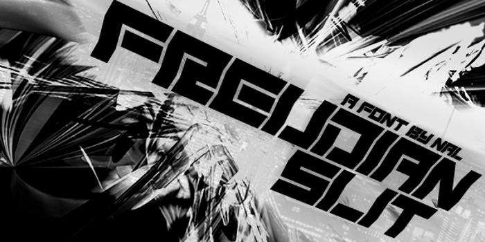 Freudian Slit Font poster