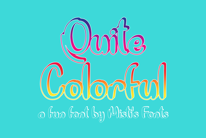 Quite Colorful Font poster