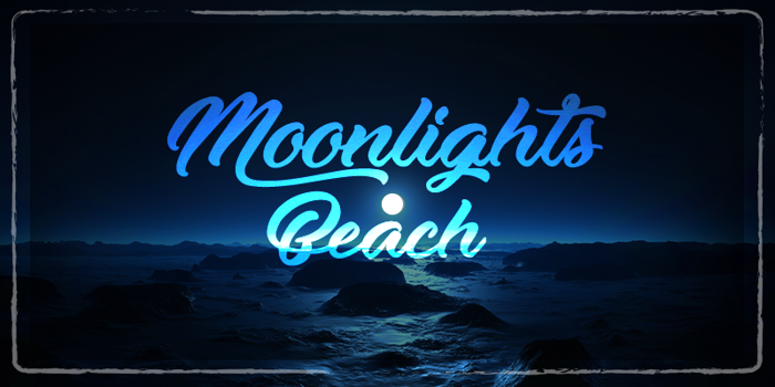 Moonlights on the Beach Font poster