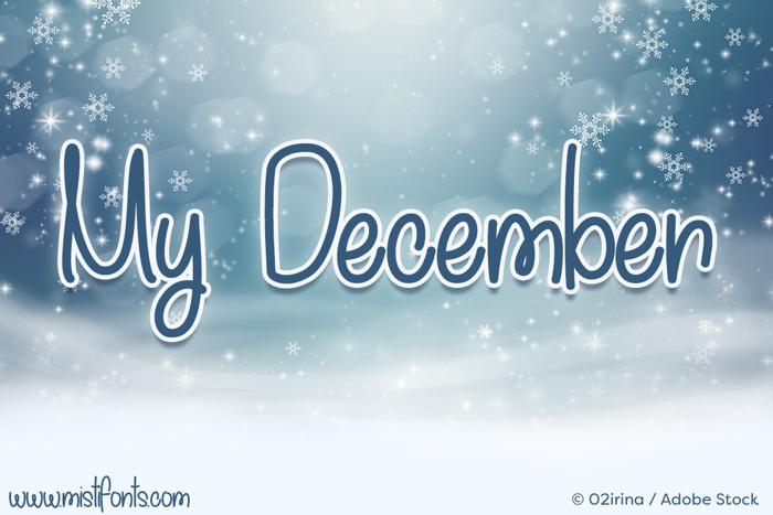 My December Font poster