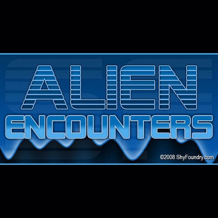 SF Alien Encounters Font poster