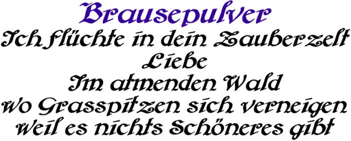 Brausepulver Font poster