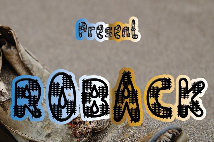 ROBACK Font poster