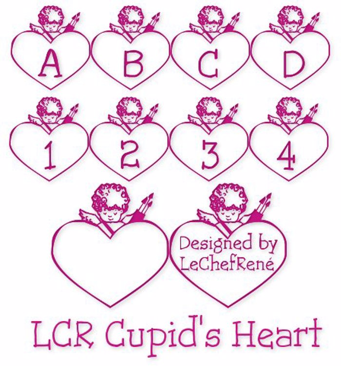 LCR Cupid's Heart Font poster