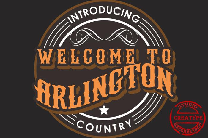 Arlington Font poster