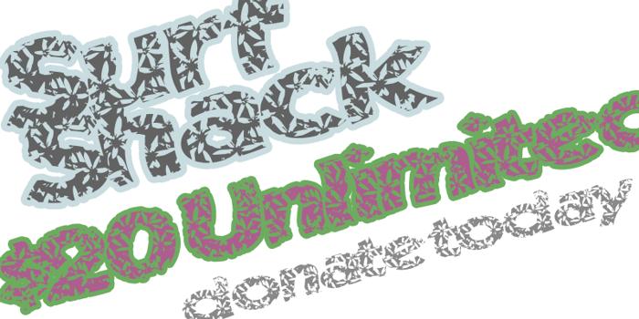 SurfShack Font poster