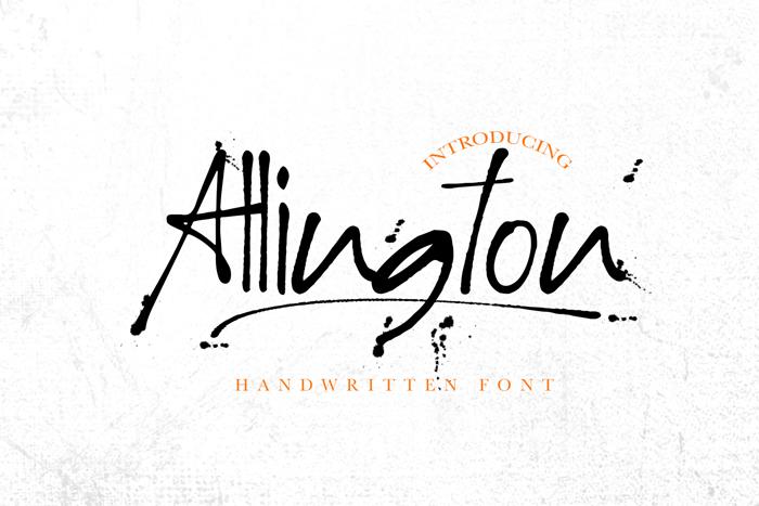 Allington Font poster