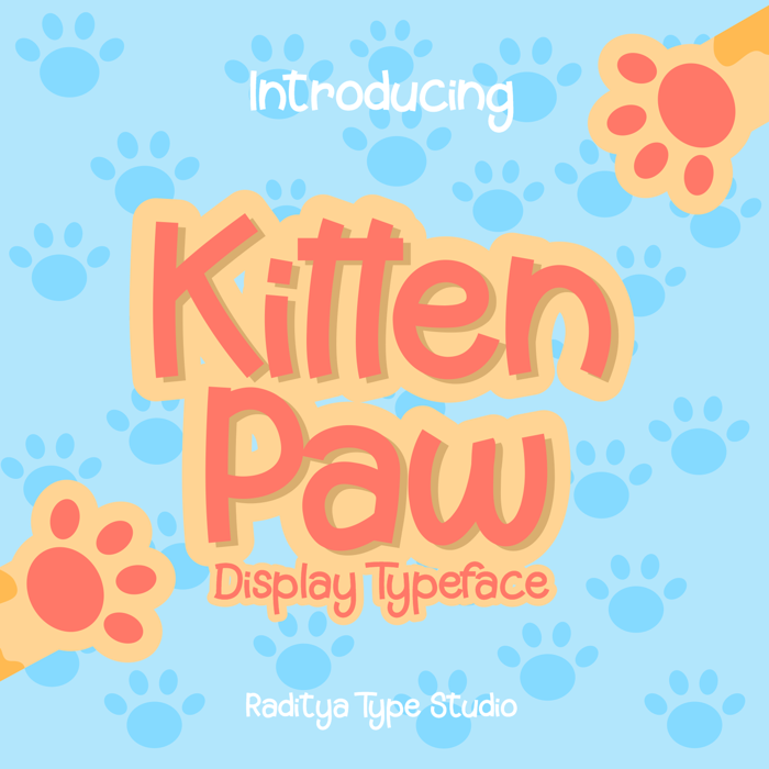 Kitten Paw Font poster