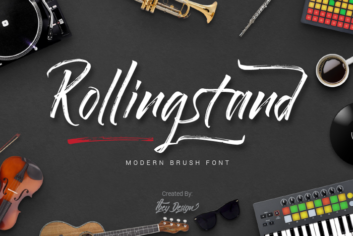 Rollingstand Font poster