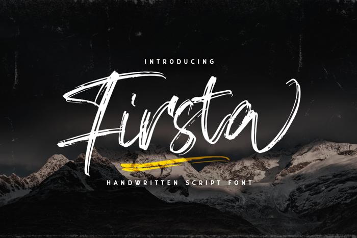 Firsta Font poster