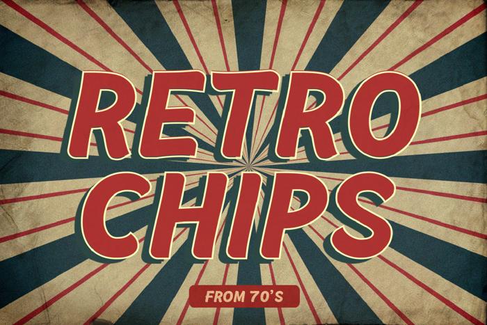 Retrochips Font poster